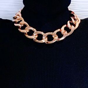 Jewelry - Rose Tone Gold Chunky Chain Statement Piece